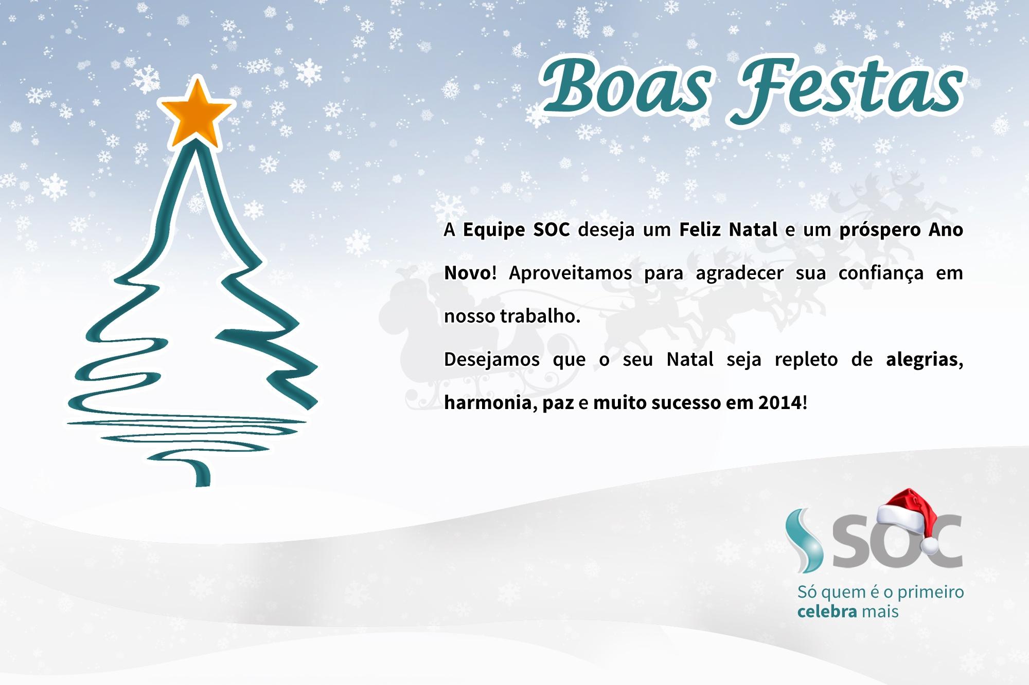 Frases De Boas Festas Para Clientes: Boas Festas & Feliz 2014!